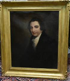 19th C Oil on Canvas Portrait of a Gentleman
