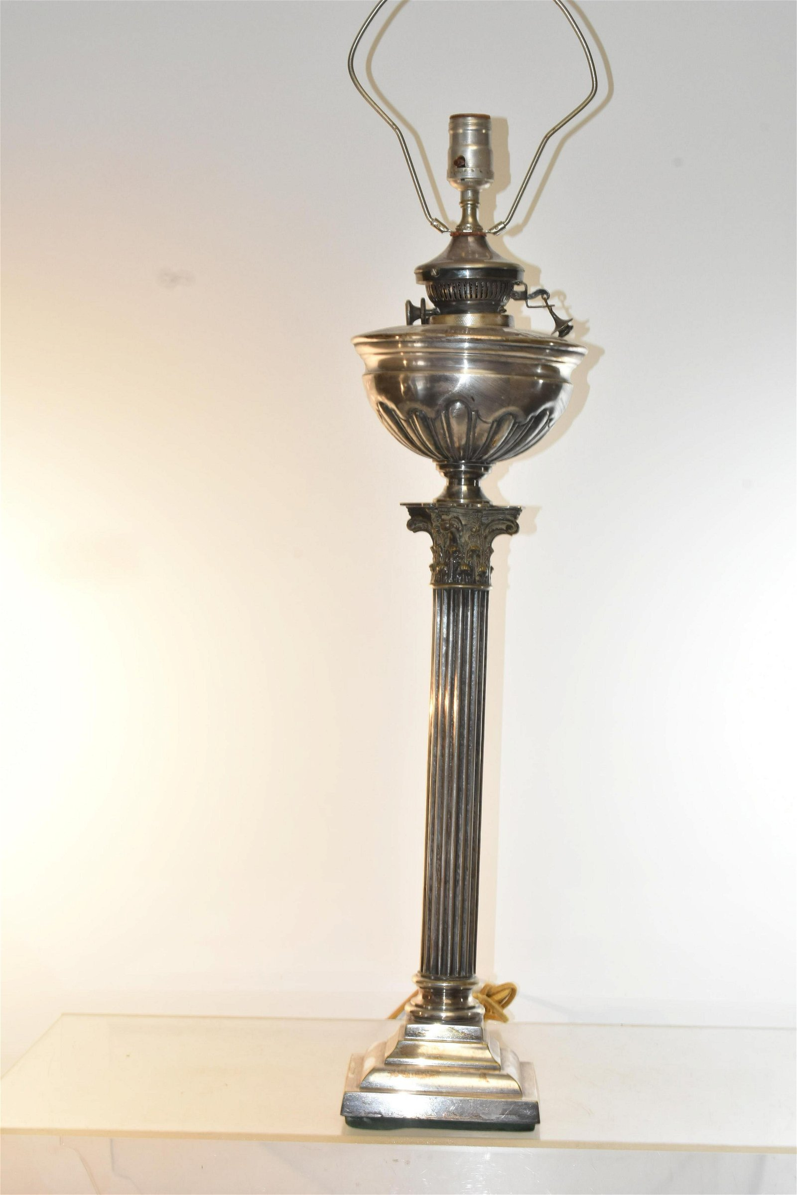 Benetfink Lamp Silver Plated for Hinks