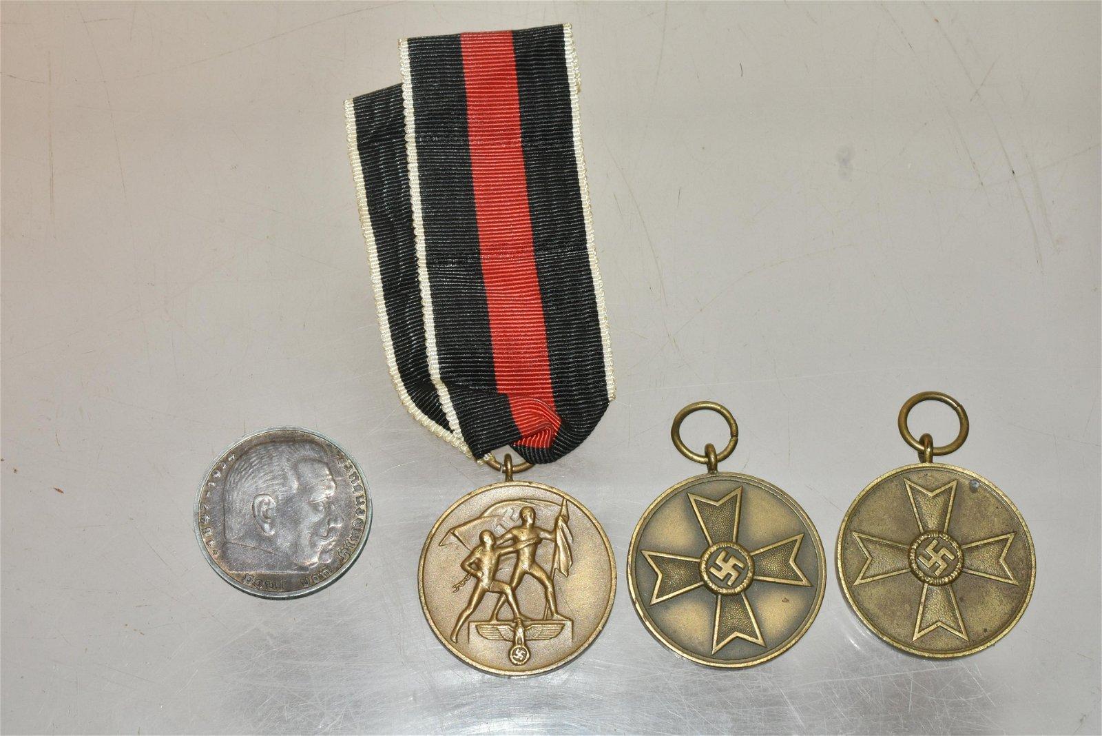 German WWII Brass Medals