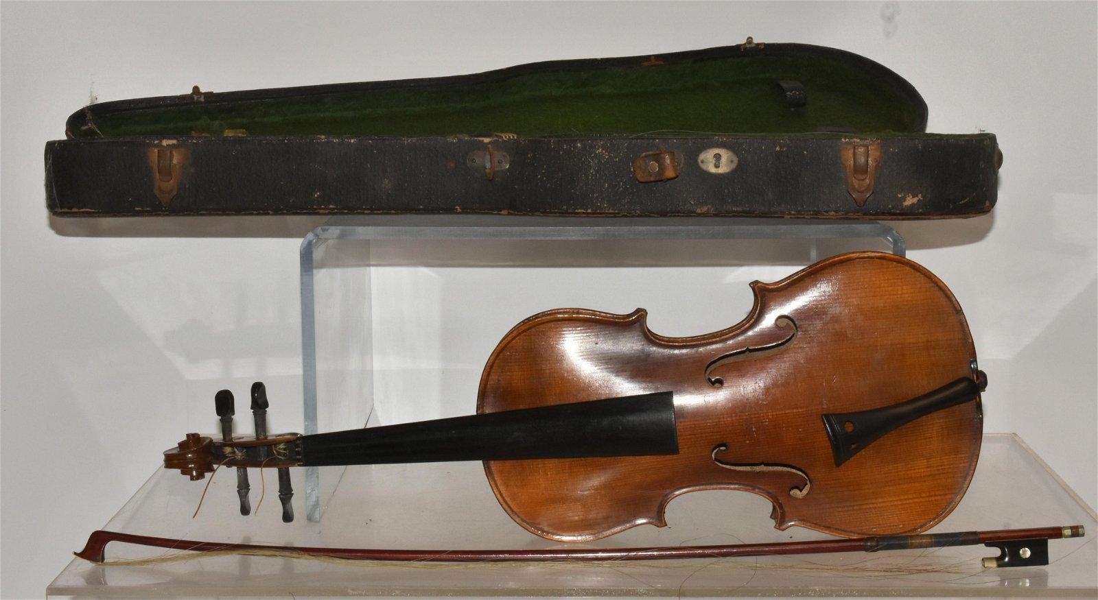 Vintage German Violin with Bow