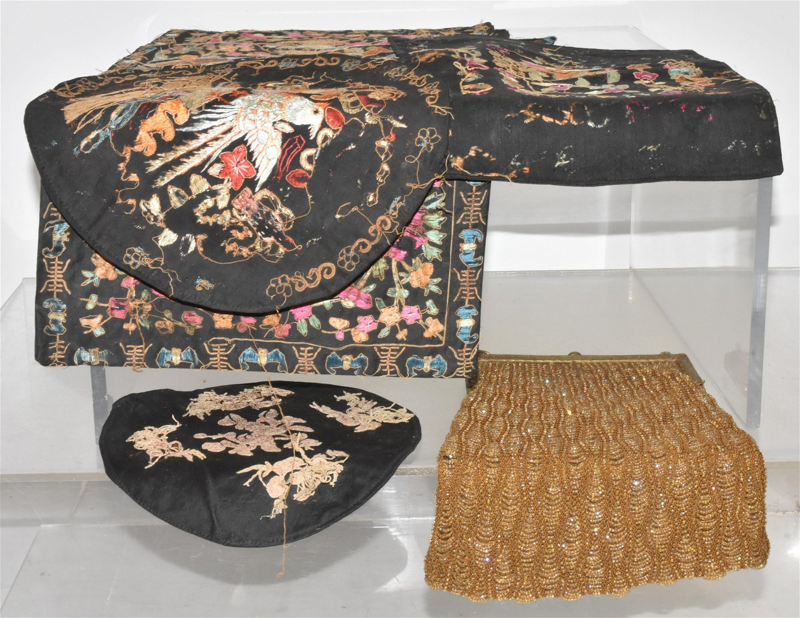 Victorian Beaded Purses and Chinese Silks
