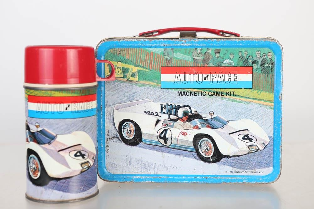 1967 Auto race Lunch Box by King Sealy