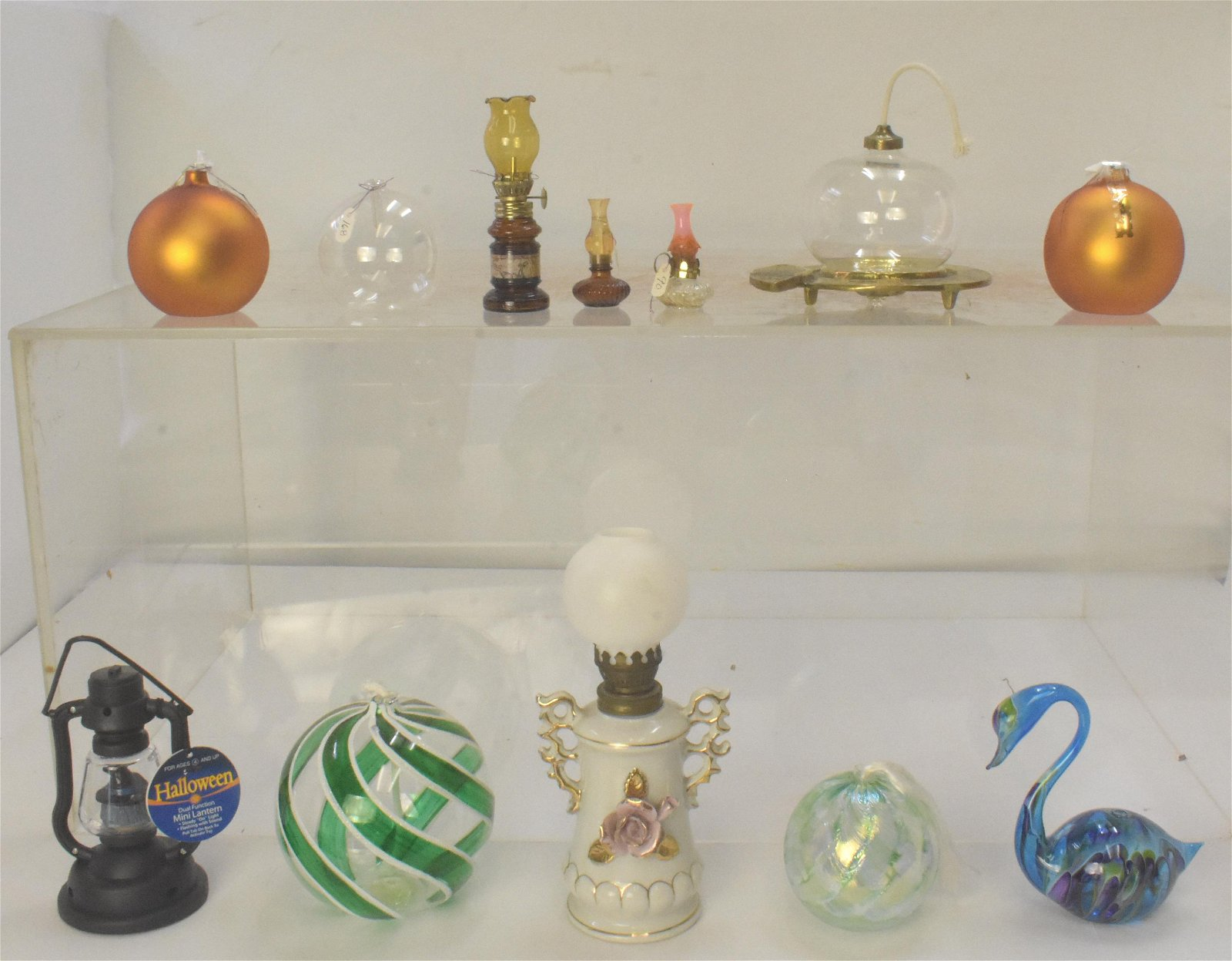 Art Glass and Other Oil Lamps