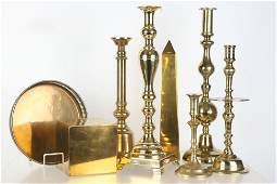 Brass Candlesticks and Decorative Art
