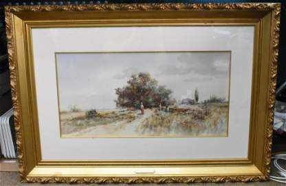 Outdoor Watercolor by Frank F. English
