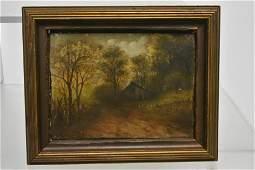19th C Oil on Canvas by Francis Elizabeth Diehl