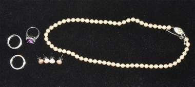 Estate Pearl and Sterling Jewelry