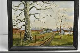 Oil on Canvas of a Farmscape
