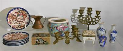 2 Pin Boxes Asian China  Brass Grouping