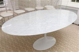 """""""Noll"""" Style Tulip Dining Table in White"""