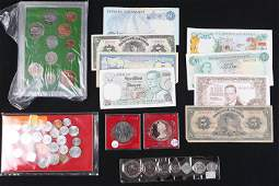 Assortment of Foreign Coins and Currency