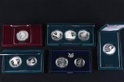 5 US Mint Commemorative Sets