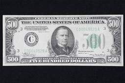 $500 Federal Reserve Note Series of 1934A