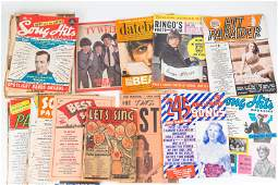 Beatles Magazines and Mixed Song Books