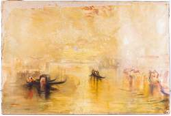 Oil on Canvas in Style of J.M.W Turner