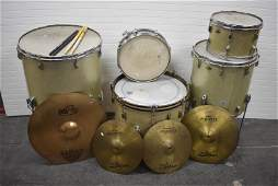 Vintage Leedy Metal Flake Drum Set