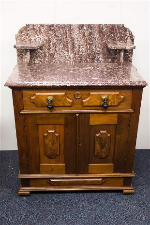 Victorian Hotel Style Marble Top Washstand