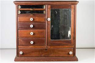 General Store Spool Cabinet, 19th/Early 20th C