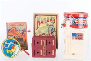 Vintage Patriotic and Uncle Sam Toys