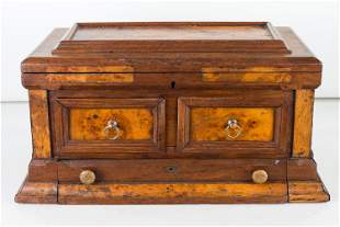 Tabletop Storage Chest, 19th C