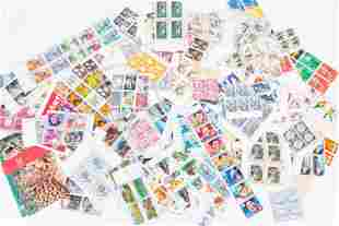 US Postage Partial Stamp Sheets