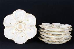Early French Le Rosey XI Oyster Plates (6)