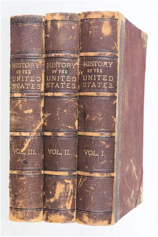 History of the US 3-Volume Set (1866)