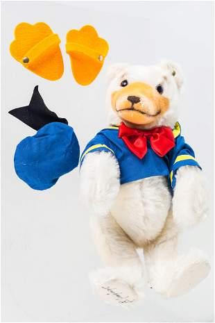 Steiff Disney 1993 Donald Duck Teddy Bear Signed