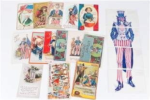 Uncle Sam and Patriotic Postcards, Early 20th C