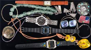 Vintage Watches, Sterling, and Costume Jewelry