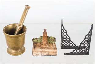 Brass Mortar and Pestle and Other Metalware