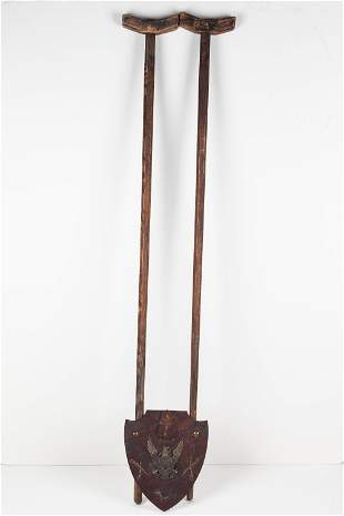 Civil War Era Crutches and Related Plaque