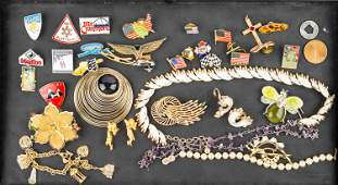 Costume Jewelry and Lapel Pins
