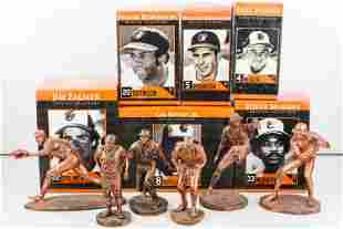 Set of 6 Baltimore Orioles Replica Sculptures