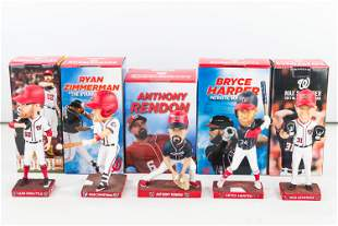 All 5 Washington Nationals 2018 Bobbleheads