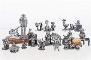 Collection of Pewter Figures