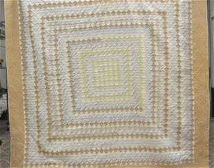 Vintage Checkerboard Hand / Machine Stitched Quilt