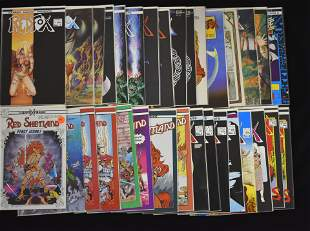 Red Fox and Red Shetland Comic Books (32 total)