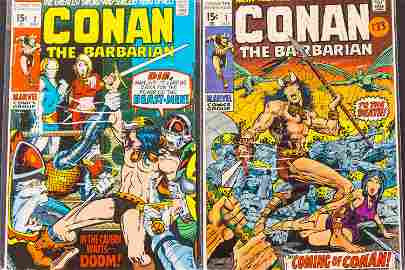 Conan The Barbarian 15 Cent Comics #1 and #2