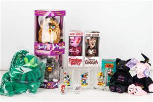 Furby, Disney, and Cereal Items