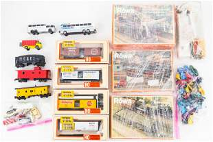HO train items and Toy Cars