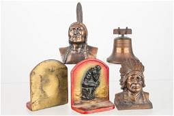 Figural Native American Banks and Bookends