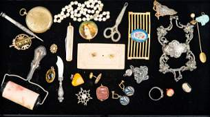 Victorian Jewelry Collection with Sterling