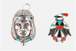 Vintage Colorful Native American Sterling Jewelry