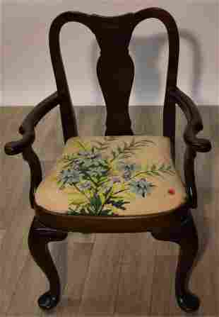 Queen Anne Style Child's Chair