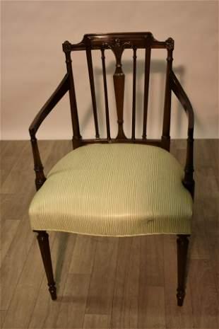 Sheraton Style Mahogany Armchair