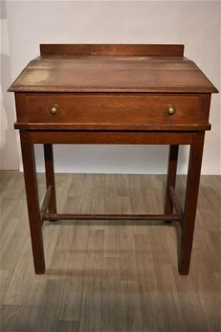 Oak Schoolmaster's Desk, 19th C