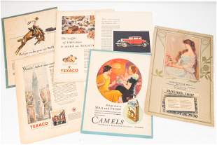 Mixed Advertising Ephemera and Early Calendar
