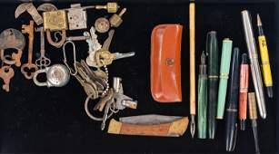 Vintage Pens Locks and Keys