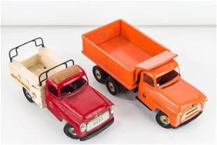2 Pressed Tin International Harvester Trucks